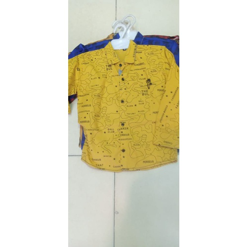 Boys Casual Printed Shirt Yellow