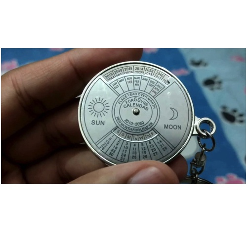 50 Years Perpetual Calender Keychain